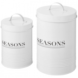 2 piece storage jar set