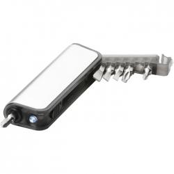 Mini tool box with flashlight