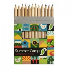 12 coloured pencils set