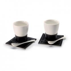 Ceramic coffee mug set for 2