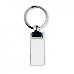 Shiny metal key ring