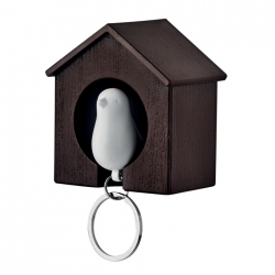 Bird house key holder
