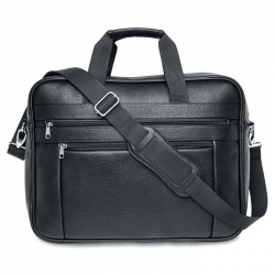 "Classic PU 17"" laptop bag"