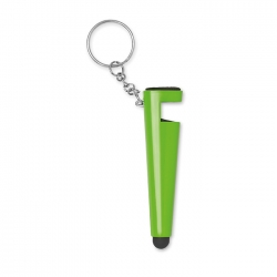 Phone stand with key ring
