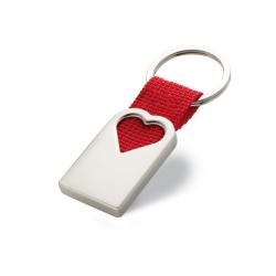 Heart metal key ring