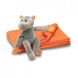 Fleece blanket with hippo