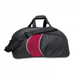 Polyester sport bag with mesh