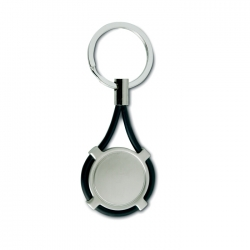 Keyring with silicone strap