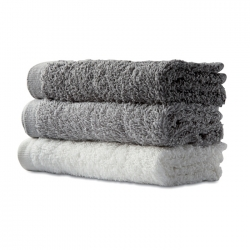 6 hand towels in basket