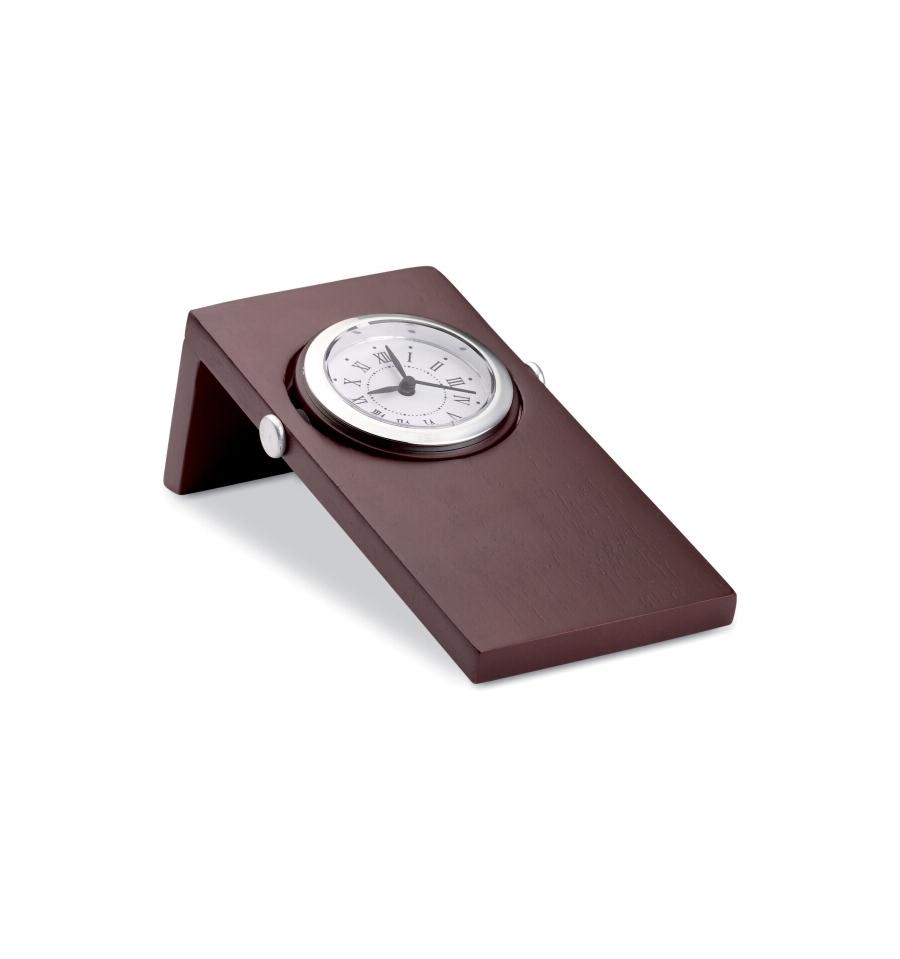 Mahogany wood desk clock