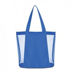 Beach bag in polyester & mesh
