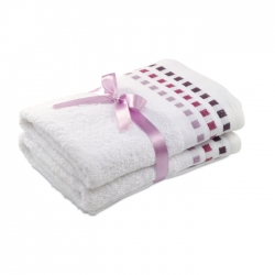 Set of 2 hand towels in cotton