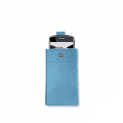 Felt smartphone pouch