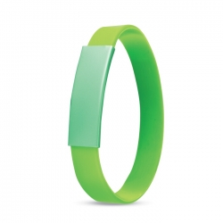 Silicone metal plate bracelet