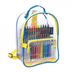 Drawing set in backpack