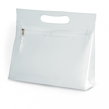 Transparent cosmetic pouch