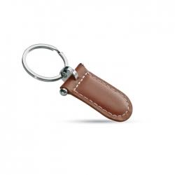Rectangular PU leather keyring