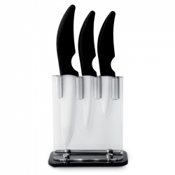 Ceramic set knife with stand