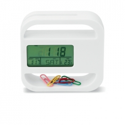 Desk clock and weather station