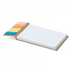 Notepad with sticky notes