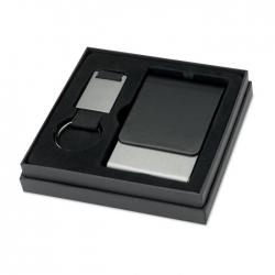 Keyring with card holder set