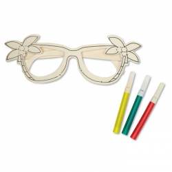 Wooden glasses painting set
