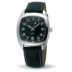 Tony watch with leather band