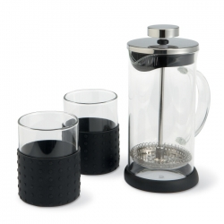 350ml coffeepot with 2 glasses