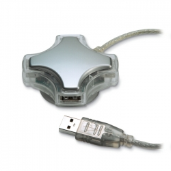 4 USB hub unit with suction cup