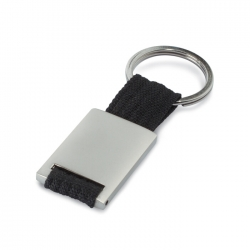 Metal rectangular key ring