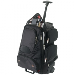 Wheeled checkpoint friendly computer backpack