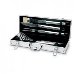 5 BBQ tools in aluminium case