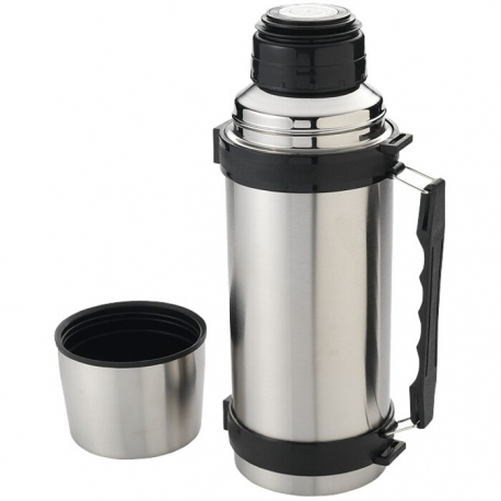 Isolating flask with strap