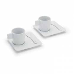 Porcelain espresso set 2 pcs