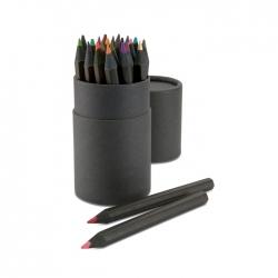 24 pencils in paper tube box