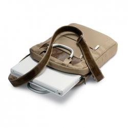 Shoulder bag with metallic handle