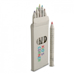 Recycled colour pencils in box