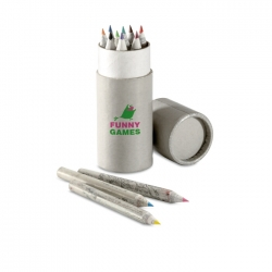 Recycled colour pencils in tube