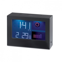 Weather station with backlight