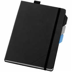 Notebook with page dividers