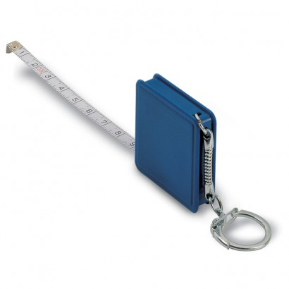 Key ring with flexible ruler