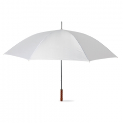 Golf umbrella with wooden grip