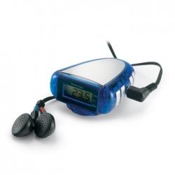 Pedometer with FM scan radio