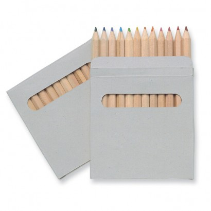 12 coloured pencils set