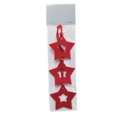 Star shape felt tree hanger