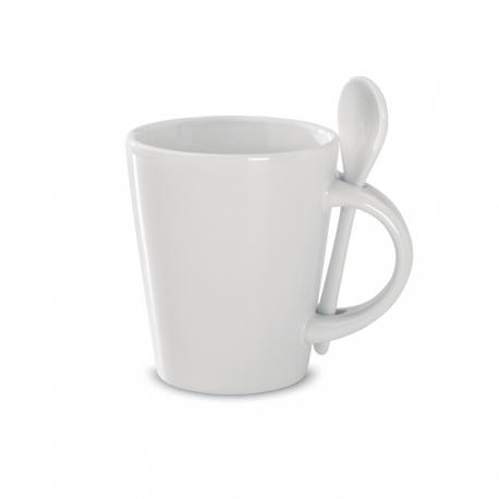 Sublimation mug with spoon