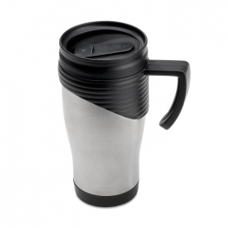 Stainless steel travel mug with plastic handle 455 ml