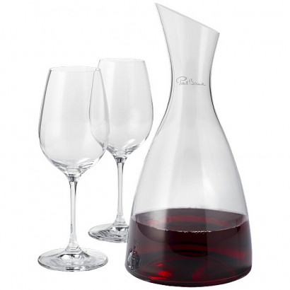 Decanter with 2 wine glasses