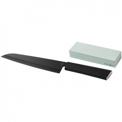 Chef's knife and whetstone