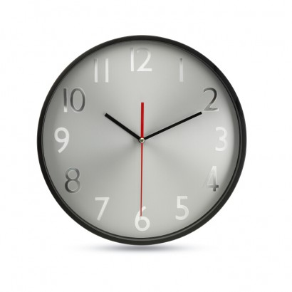Wall clock w silver background